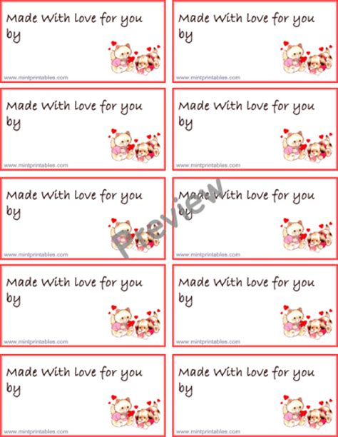 printable made for you gift tags printable gift tag made with love