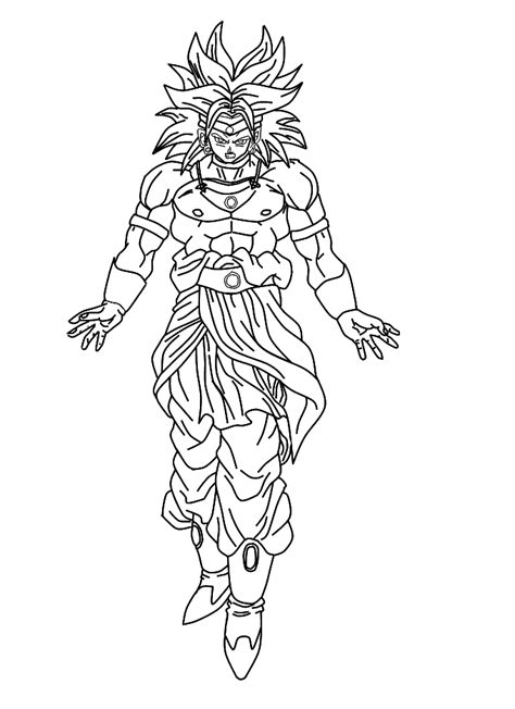 dragon ball z coloring pages of broly broly fssj by dpl1 on deviantart