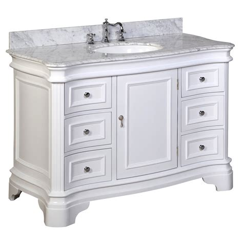white bathroom vanity 48 katherine 48 inch vanity carrara white