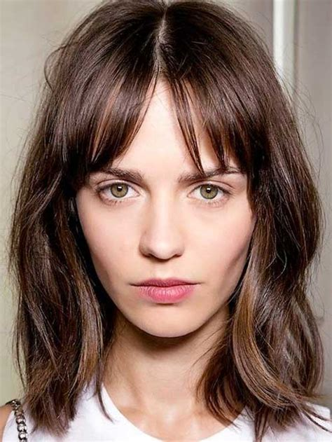 short brunette hairstyles bangs 15 popular brunette bob hairstyles short hairstyles 2017