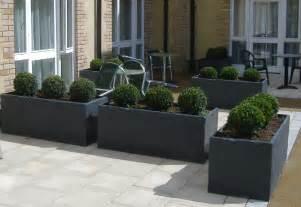 slate planters slate effect fibreglass modern garden