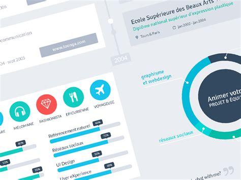 resume flat design timeline by dehayes dribbble