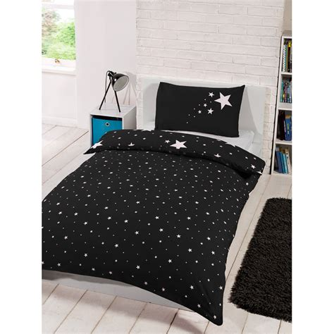 single bedding sets uk glow in the single duvet set black bedding