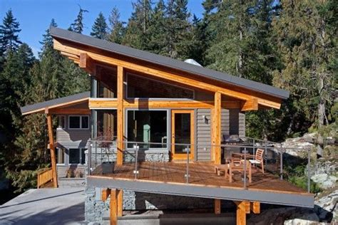 slant roof whistler slant roof chalet pacific northwest modern