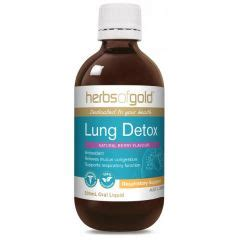 Herbal Teas For Lung Detox by Herbs Of Gold Lung Detox 200ml Ozherbs