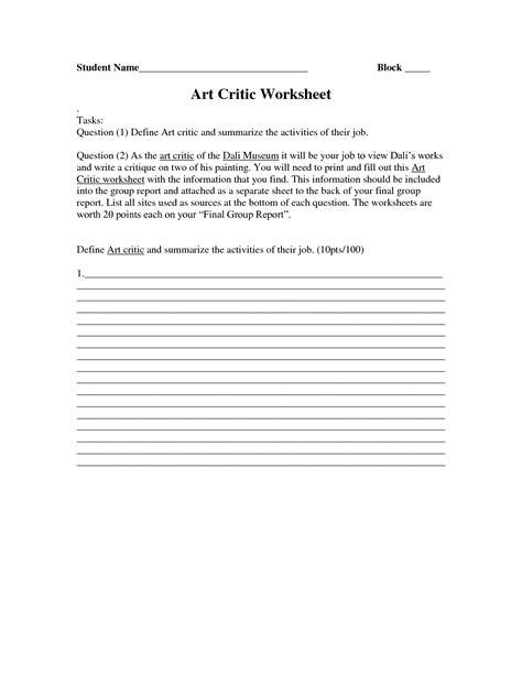 artist biography report free worksheets 187 biography worksheet free math