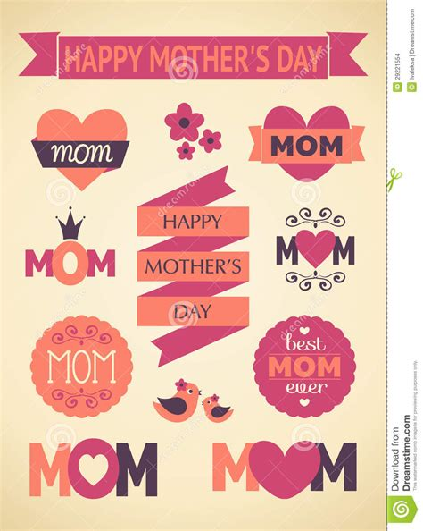 mother s day designs mother s day design elements stock illustration image