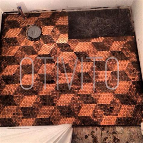 pennies on floor of bathroom best 25 pennies floor ideas on pinterest penny flooring copper penny and penny table