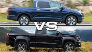 Chevrolet Vs Honda 2017 Honda Ridgeline Vs Chevrolet Colorado