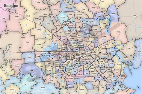 printable zip code map houston tx houston zip code map travelquaz com