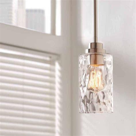 brushed nickel glass pendant light home decorators collection 1 light brushed nickel mini