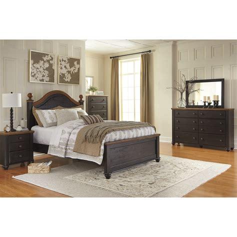 signature design  ashley panel customizable bedroom set