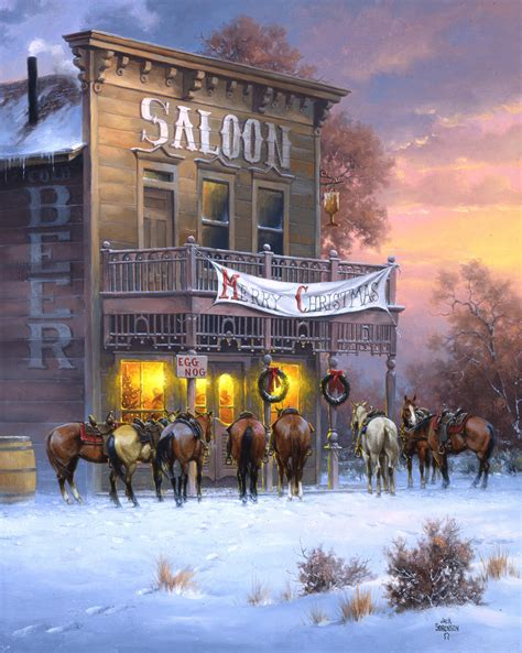 christmas spirits the old west art of jack sorenson