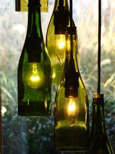Wine Bottles Chandelier Cascading Wine Bottle Chandelier