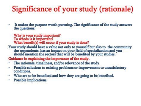 rationale of the study research paper introduction rationale and objectives