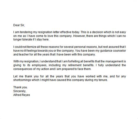 Resignation Letter Exles With Immediate Effect Notice Of Resignation Sle 7 Documents In Word