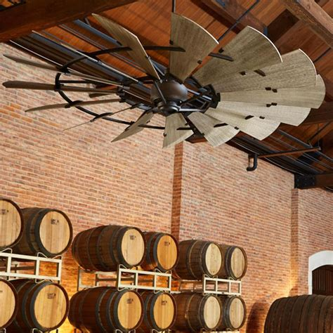 72 rustic windmill ceiling fan 60 quot rustic windmill ceiling fan to be wall mount and