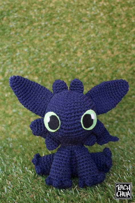 amigurumi pattern toothless hooked toothless from how to train your dragon drawn