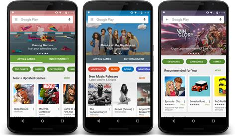Play Store Devices New Look Play Store Begins Hitting Devices