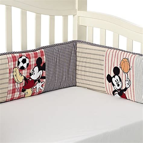Mickey Mouse Cot Bumper Bedding Sets Kidsline Vintage Mickey Mouse 4 Crib Bumper Set Buybuy Baby
