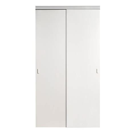 72 Inch Closet Doors Impact Plus 72 In X 80 In Smooth Flush Solid White Mdf Interior Closet Sliding Door With
