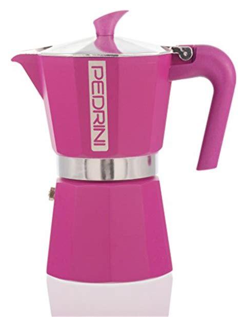 Moka Pot Pedrini 3 Cup Manual Espresso Coffee Maker Murah pedrini italy colours collection stovetop moka espresso maker 1 2 3 and 6 cup green pink