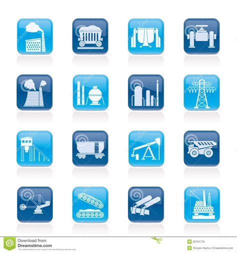 heavy industry icons royalty free stock images image 29761779
