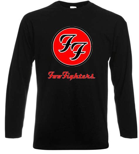 foo fighters tshirt new foo fighters rock band dave grohl sleeve black t