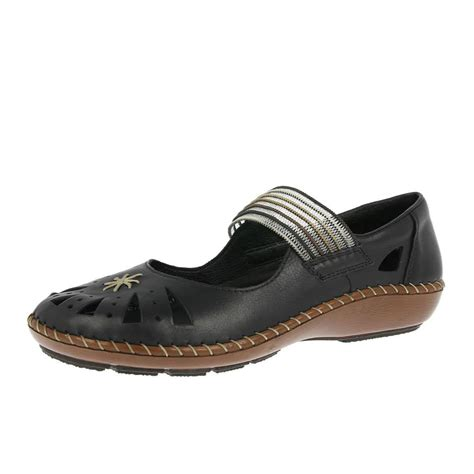 rieker shoes 44865 00 black with free delivery