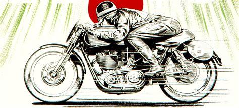 Triumph Motorrad Poster by Vintage 1950s Ajs Motorcycle Poster British Biker Rocker