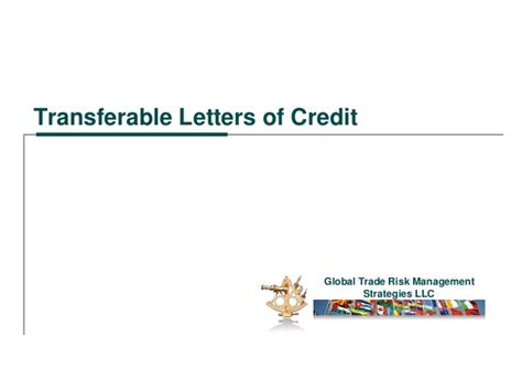 Transferable Letter Of Credit Transferable Letters Of Credit