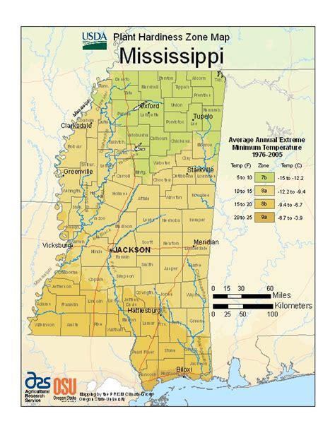 New Plant Hardiness Zone Map from USDA   Mississippi Fruit