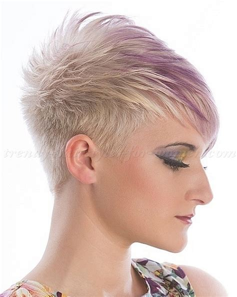 pictures of black women with funky color highlights short hairstyles short blonde hairstyle purple