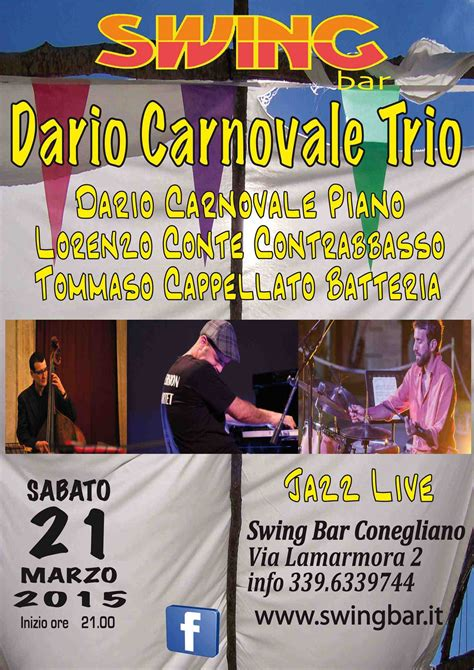 swing bar conegliano dario carnovale trio swing bar concerti jazz musica
