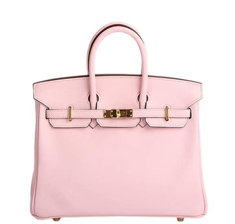 herm 232 s birkin 25 bag pink gold hardware leather baghunter
