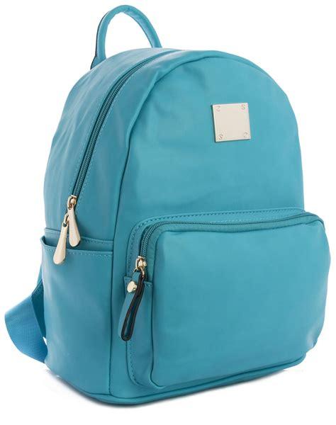Faux Leather Plain Backpack big handbag shop medium size plain faux leather designer