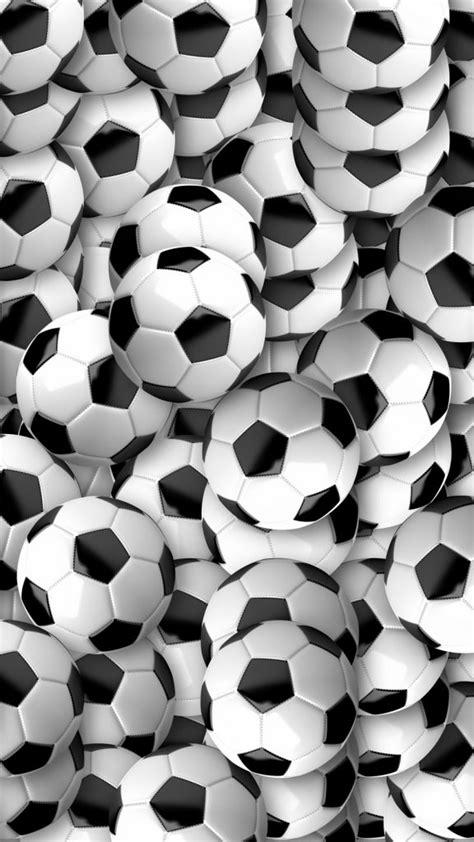Soccer balls, football, texture, many wallpaper