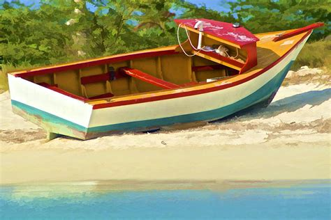 fishing boats for sale caribbean beached fishing boat of the caribbean photograph by david