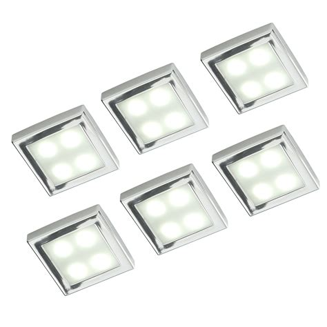 masterlite mains powered led cabinet light pack of 6