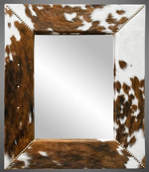 Cowhide Mirror - 5 cowhide diy projects to try magazine