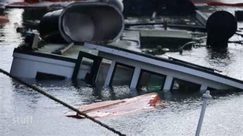 boat salvage auckland sunken auckland ferry kestrel raised from the deep stuff