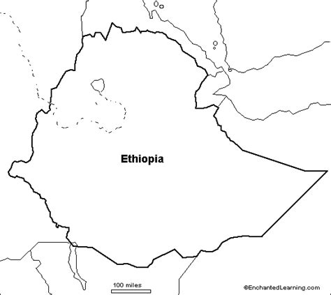 ethiopia map coloring page outline map research activity 1 ethiopia