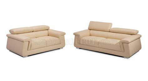 beige leather loveseat beige italian leather modern sofa loveseat set w options