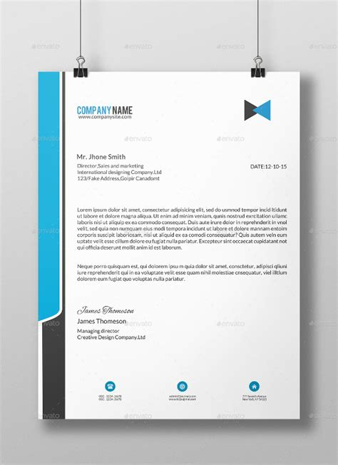 Business Letter Template Indesign business letterhead vector eps corporate business