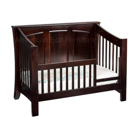Baby Cribs Made In America Cambria Panel Convertible Baby Crib Made In Usa Solid Wood American Eco Furniture