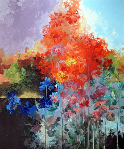 Abstract Flowers saatchi abstract flowers painting by vlad tasoff