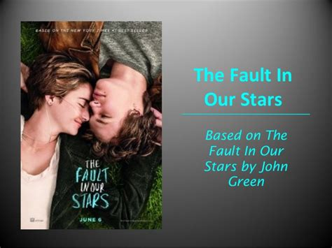 the fault in our series 1 the fault in our power point