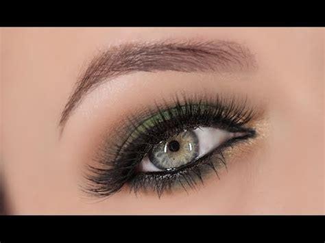 light smokey eye for green green gold smokey eye makeup tutorial