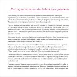 cohabitation contract template sle cohabitation agreement 7 documents in pdf word