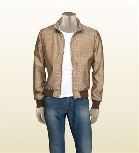 Gucci Jacket by Gucci Gg Pattern Jacket In Brown For Lyst